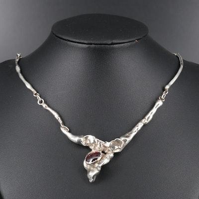 Sterling Garnet Necklace