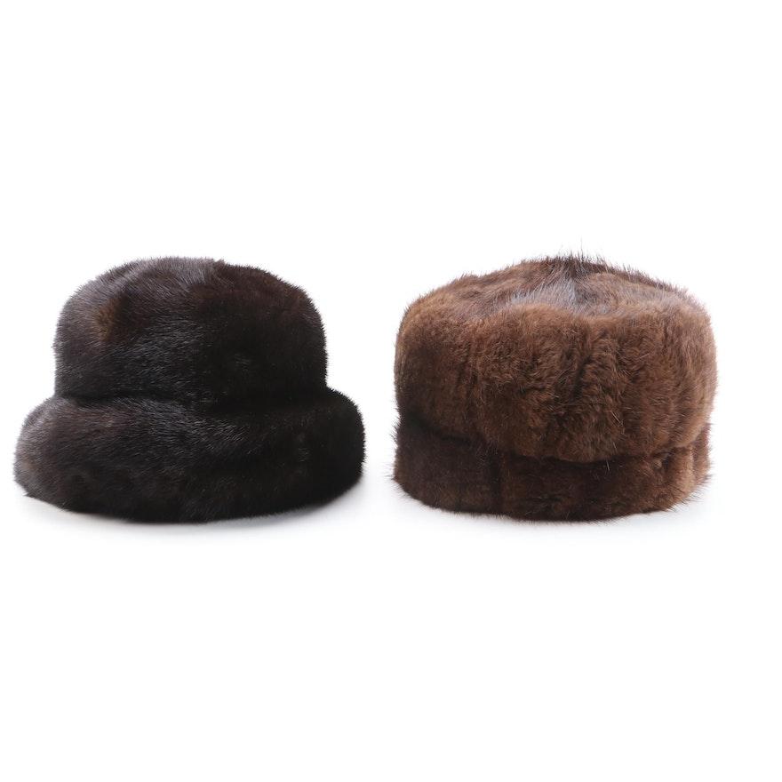 Mink Fur Hats Including Pot Poht Russian Mink Fur Hat