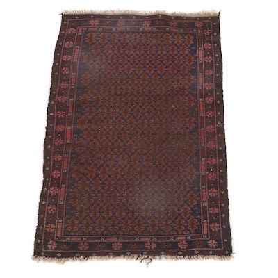 2'7 x 4'7 Hand-Knotted Northwest Persian Wool Rug