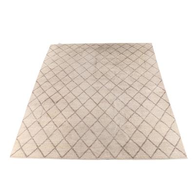 10'4 x 13'11 Hand-Knotted Geometric Wool Rug