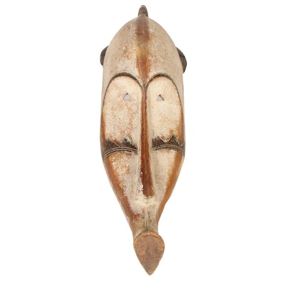 "Fang ""Ngil"" Style Carved Wood Mask, Central Africa"