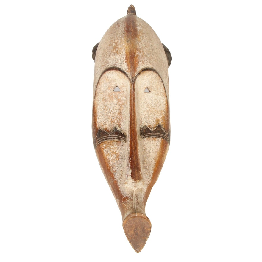 """Fang """"Ngil"""" Style Carved Wood Mask, Central Africa"""