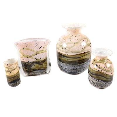 "Gozo ""Seashell"" Glass Vases"