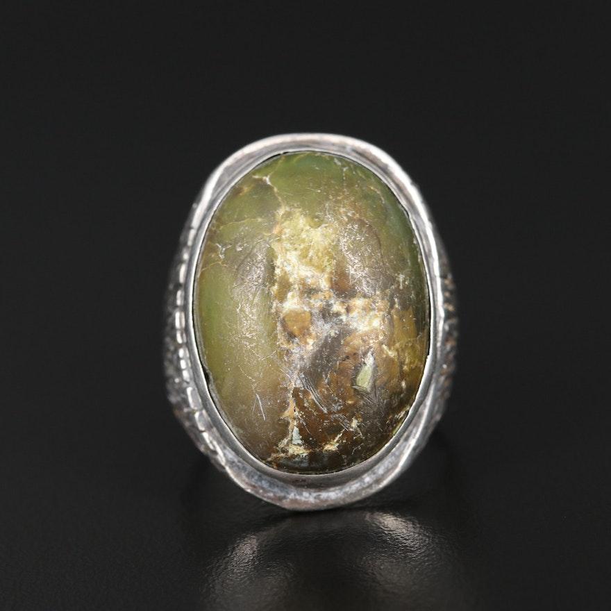 Sterling Silver Serpentine Ring