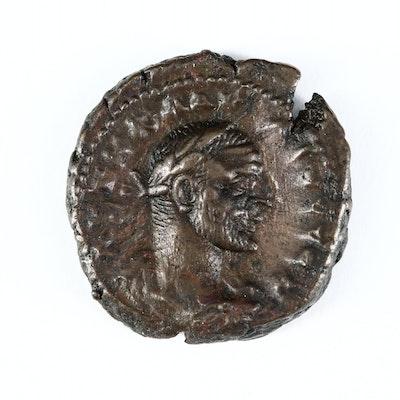 Ancient Roman Egypt Potin Tetradrachm of Claudius II, Alexandria ca. 269 A.D.
