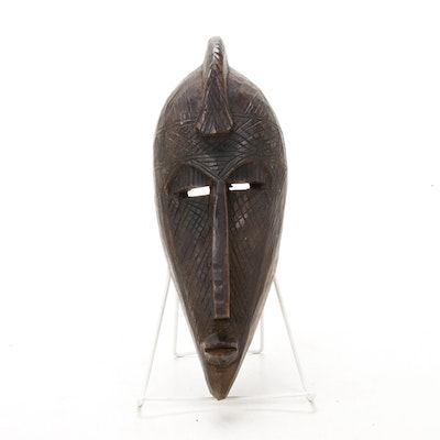 Marka Style Hand-Carved Wooden Mask, Mali