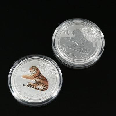 "2010 Australia .999 Silver ""Year of the Tiger"" Half Dollars"