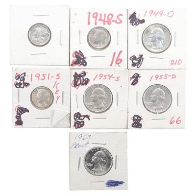 Seven High-Grade U.S. Silver Coins