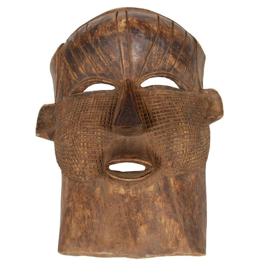 Central African Carved Wood Mask