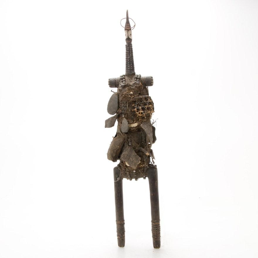 Namji Ritual Figure with Embellishments, Cameroon