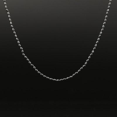 Pandora Sterling Beaded Chain
