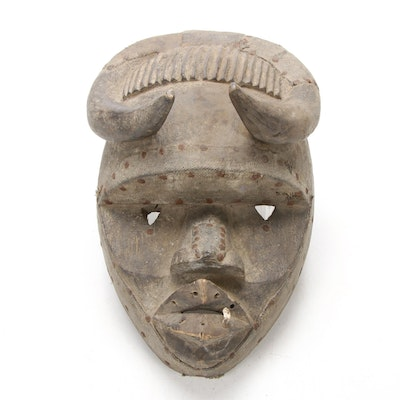 Guere Style Hand-Carved Wooden Mask, West Africa
