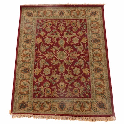 4'0 x 6'2 Power-Loomed Indian Mahal Style Wool Area Rug