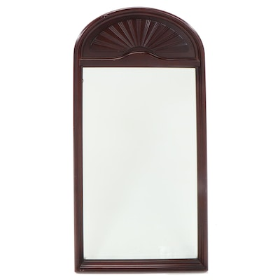 Bombay Company Arched Mahogany Wall Mirror, Late 20th Century