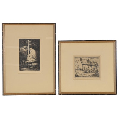 Eugene Higgins Etchings, Early 20th Century