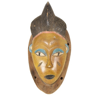 Guro Style Carved Wood Mask, Central Africa