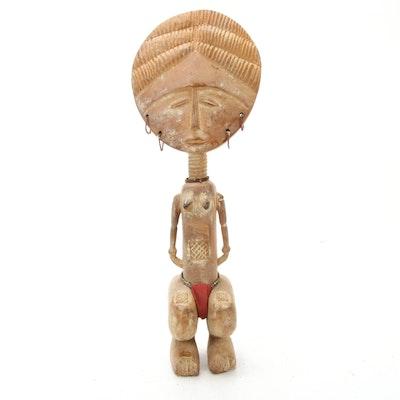 "Asante Inspired ""Akua'ba"" Wooden Doll"