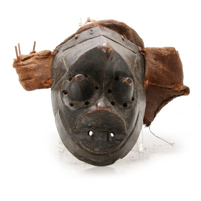 "Kuba Style ""Pwoom Itok"" Wooden Mask, Central Africa"