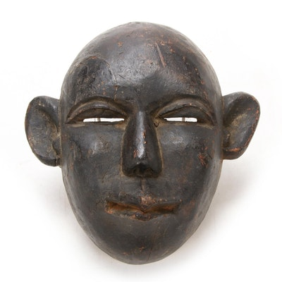 East African Carved Wooden Mask