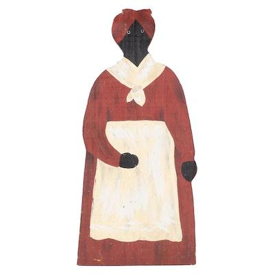 Cheryl F. Miller Painted Black Americana Standing Figure