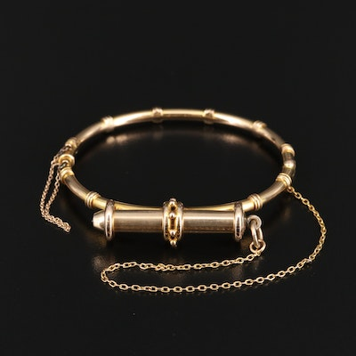 Victorian 14K Bracelet with 10K S. Mordan & Co. Pencil