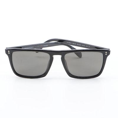 Oliver Peoples Bernardo Polarized Rectangle Sunglasses with Case