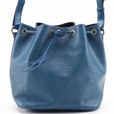 Louis Vuitton Petit Noé Bucket Bag in Toledo Blue Epi Leather