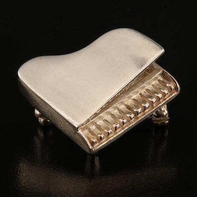 Mexican Sterling Silver Grand Piano Brooch