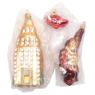 "Patricia Breen Designs ""Manhattan Ape"" Miniature Plane and Building Ornaments"