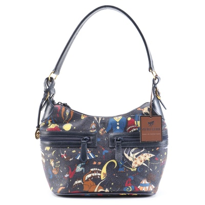 Piero Guidi Navy Magic Circus Shoulder Bag