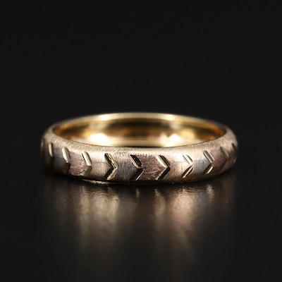 10K Tri-Color Textured Band