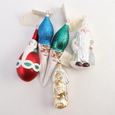 Patricia Breen Designs Santa and Angel Ornaments, Late 20th Century