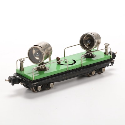 Lionel Pre War O Scale 2820 Spotlight Car, Mid 20th Century