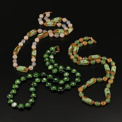 Venetian Art Glass Bead Necklaces