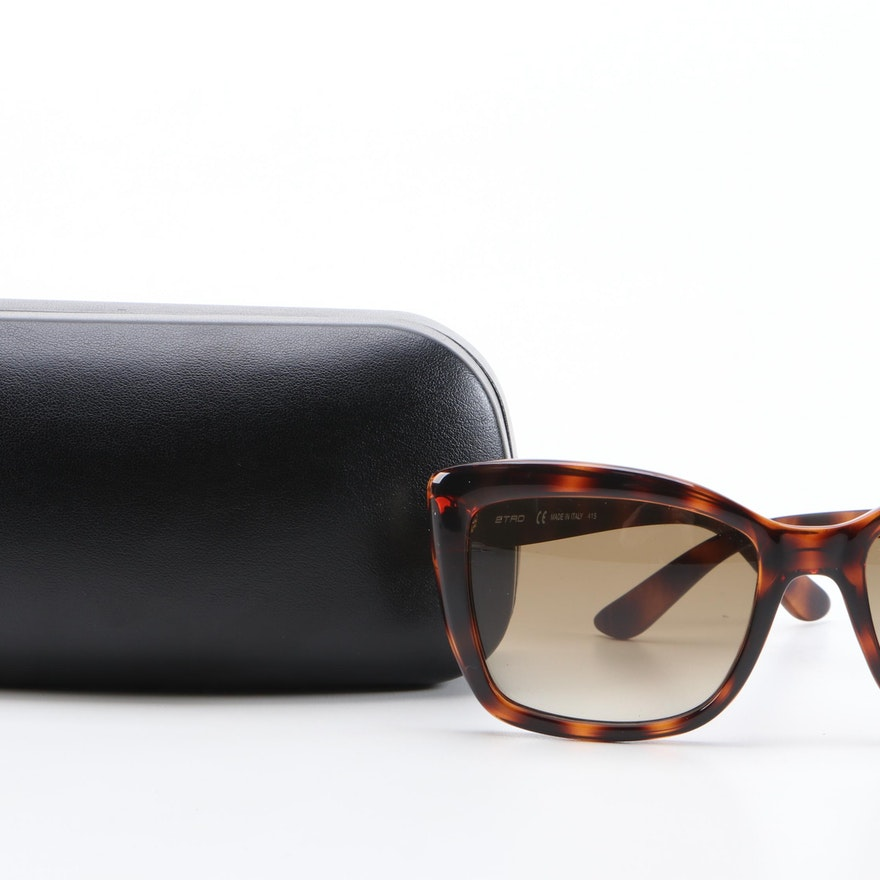 ETRO ET601S Dark Havana Modified Cat Eye Sunglasses with Case