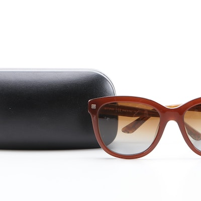 ETRO ET622S Brown Paisley Modified Cat Eye Sunglasses with Case