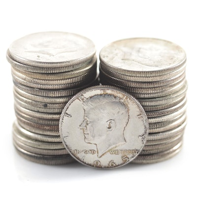 Thirty-Six Silver-Clad Kennedy Half Dollars