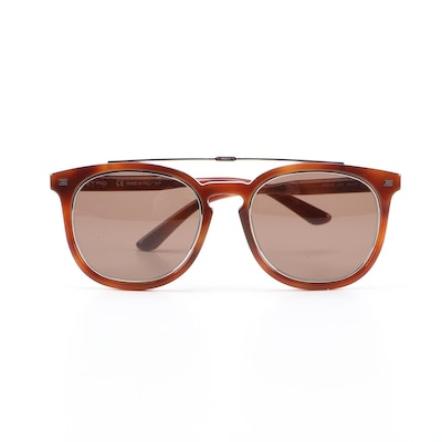 ETRO ET641S Blonde Havana Horn-Rimmed Sunglasses with Case