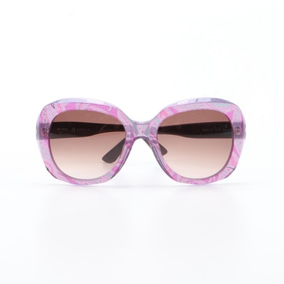 ETRO ET633S Violet Paisley Modified Cat Eye Sunglasses with Case