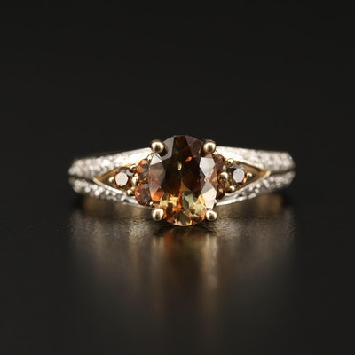 14K Andalusite and Diamond Ring