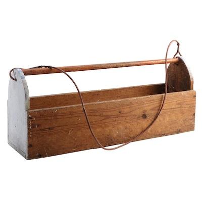Bench Made Pine Carpenter's Tool Box