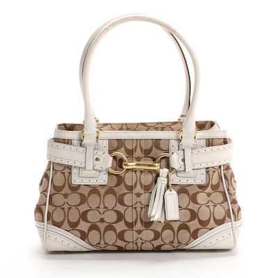 Coach Hampton Carryall in Signature Canvas and Leather