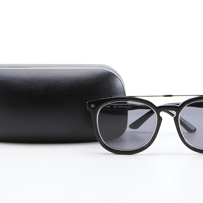 ETRO ET641S Black Horn-Rimmed Sunglasses with Case