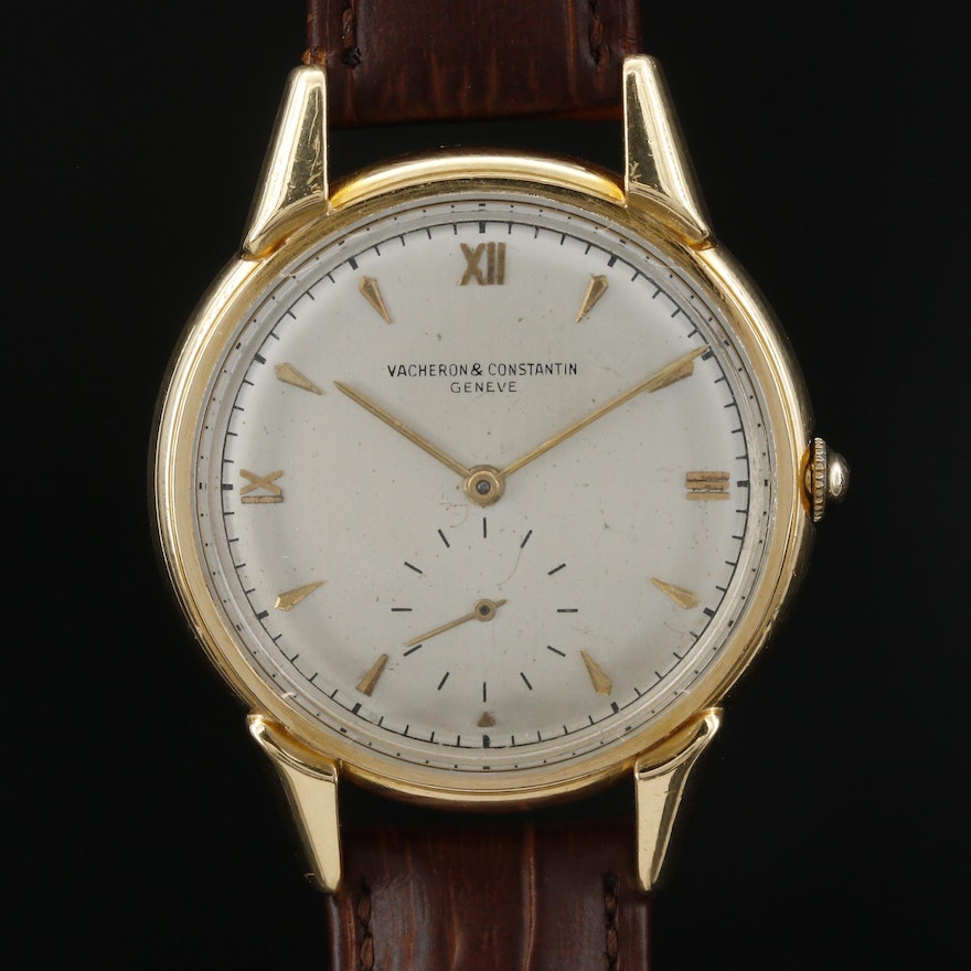 Vintage Vacheron Constantin 18K Yellow Gold Stem Wind Wristwatch