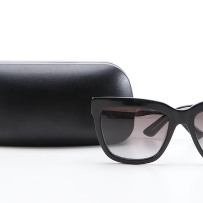 ETRO ET6035S Black Modified Cat Eye Sunglasses with Case