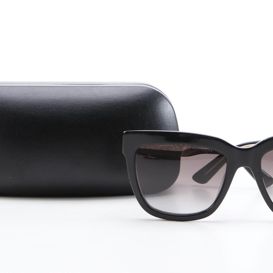 ETRO ET6035S Black Modified Cat Eye Sunglasses with Case