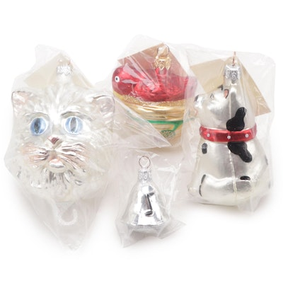 Patricia Breen Designs Animal and Bell Christmas Ornaments