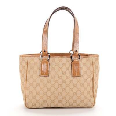 Gucci Tote Bag in GG Canvas and Leather