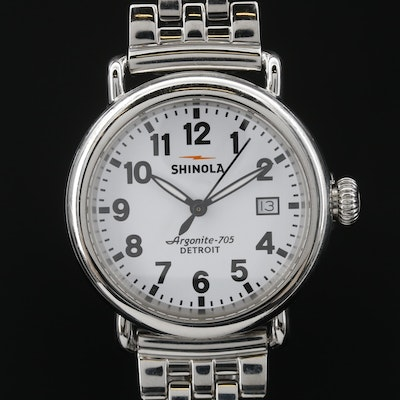 Stainless Steel Shinola Argonite 705 Stainless Steel Quartz Wristwatch