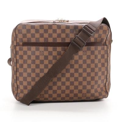Louis Vuitton Dorsoduro Messenger in Damier Ebene Canvas and Leather